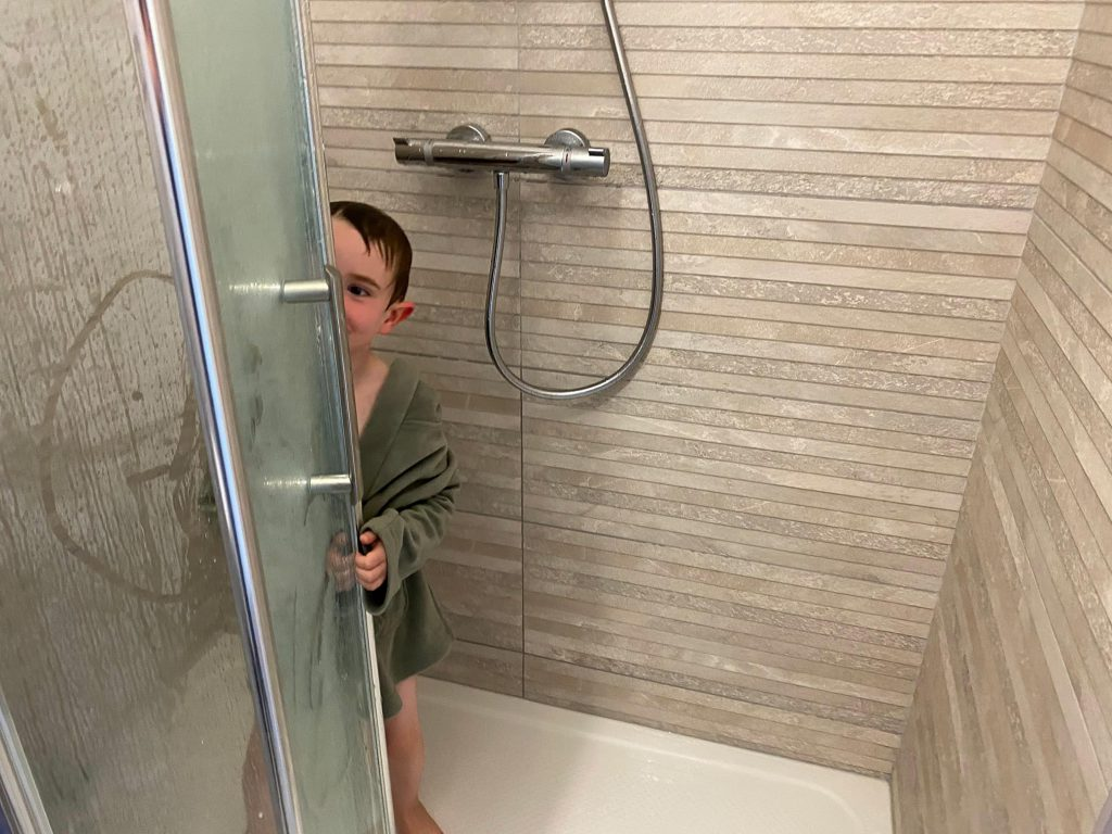 Shower in Use